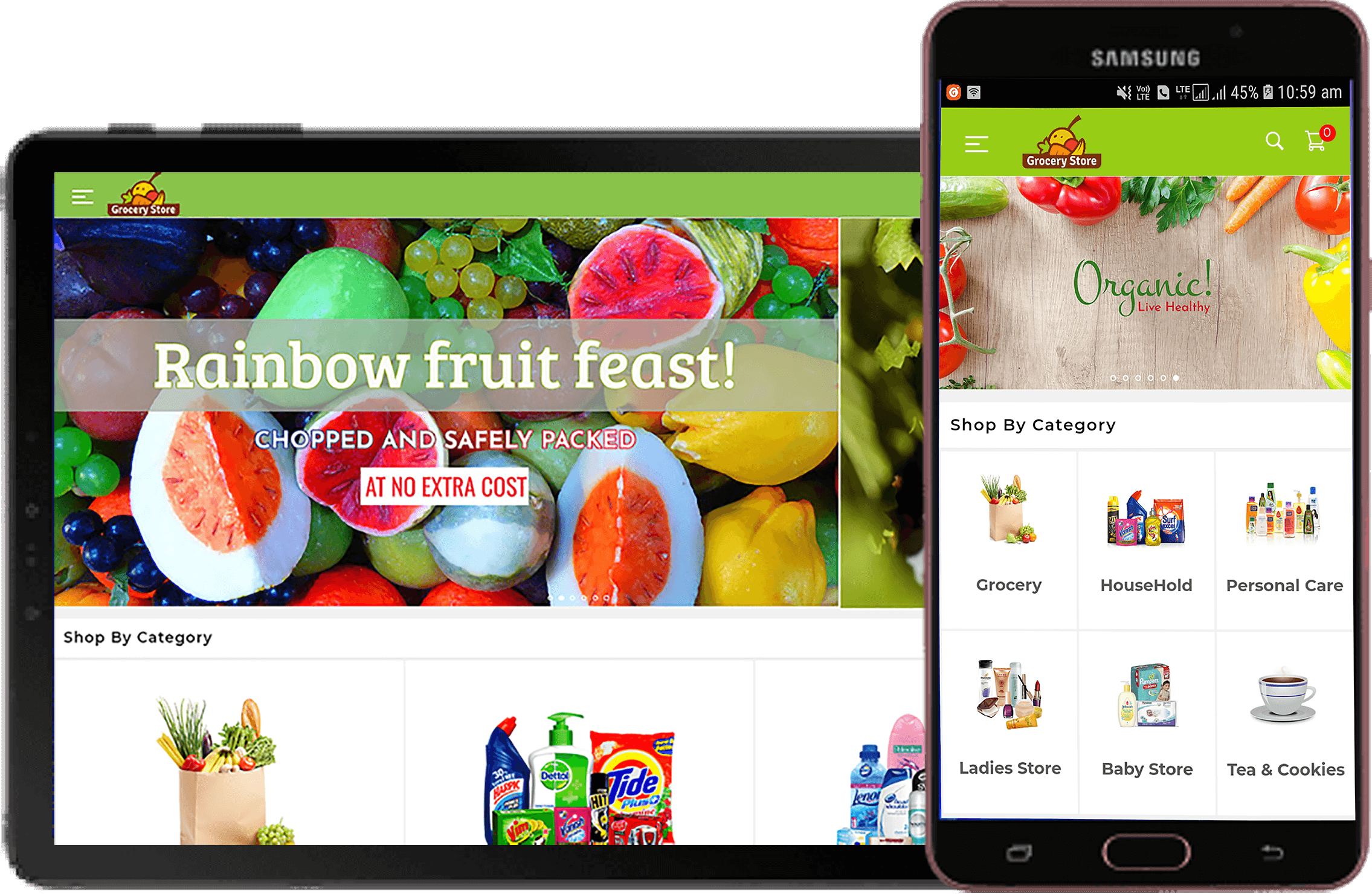 Mobile App For Grocery Solution Banner Image Smart App Solution